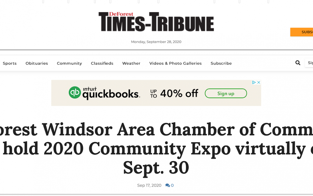 BoothCentral Virtual Event Platform Covered by DeForest Times-Tribune