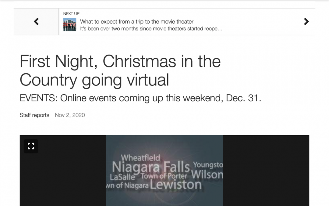 BoothCentral's Christmas in the Country featured by the Niagara Gazette